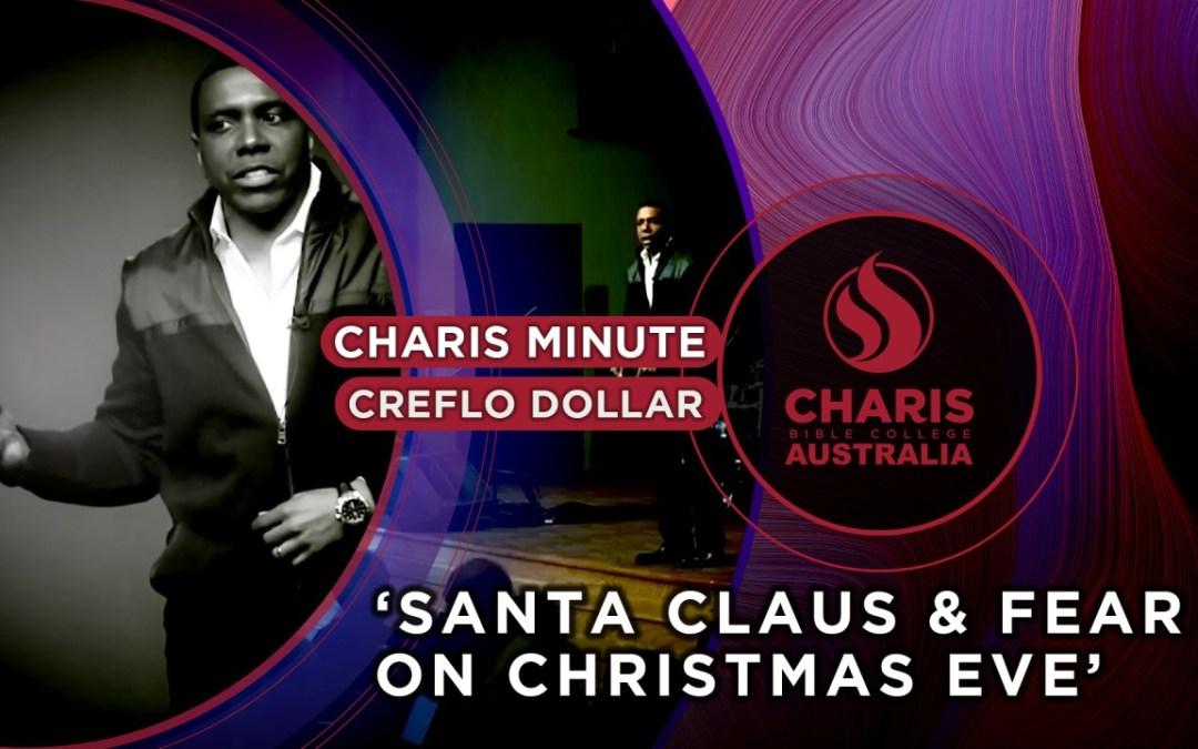 Santa Claus And Fear On Christmas Eve