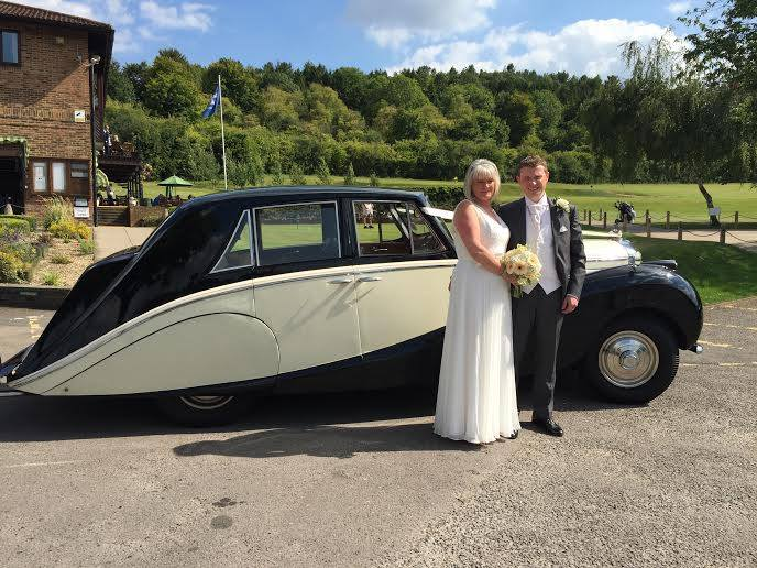 Our 1952 Bentley with happy couple - a terrific wedding vehicle