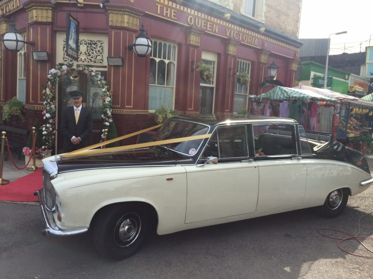 Our Daimler on the set of Eastenders - it's not only weddings we do!