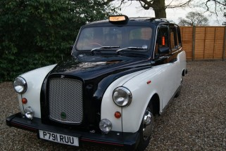 London fairway taxi cab from 1996 - cool wedding transportation