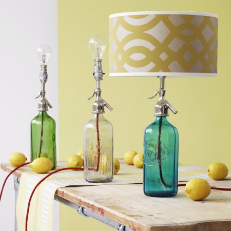 upcycled soda syphons to table lamps, Graham and Green