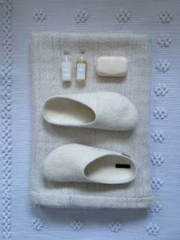 White Fire and Felt slippers - Bath Time - Botanicals Blog - Charis White
