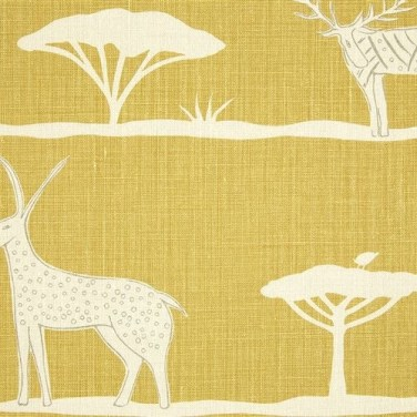 Wild & Free fabric, Saffron/Dormouse - WILD-52-24, £48/m, Vanessa Arbuthnott: Global Fusion blog: Charis White