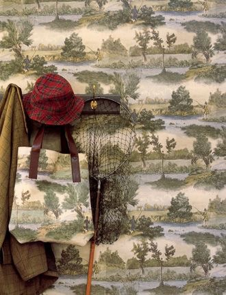 Fly Fishing wallpaper and fabric, Lewis & Wood/Charis White blog