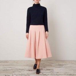 pink skirt, Cabbages & Roses 2017: Charis White Indigo and Blush blog