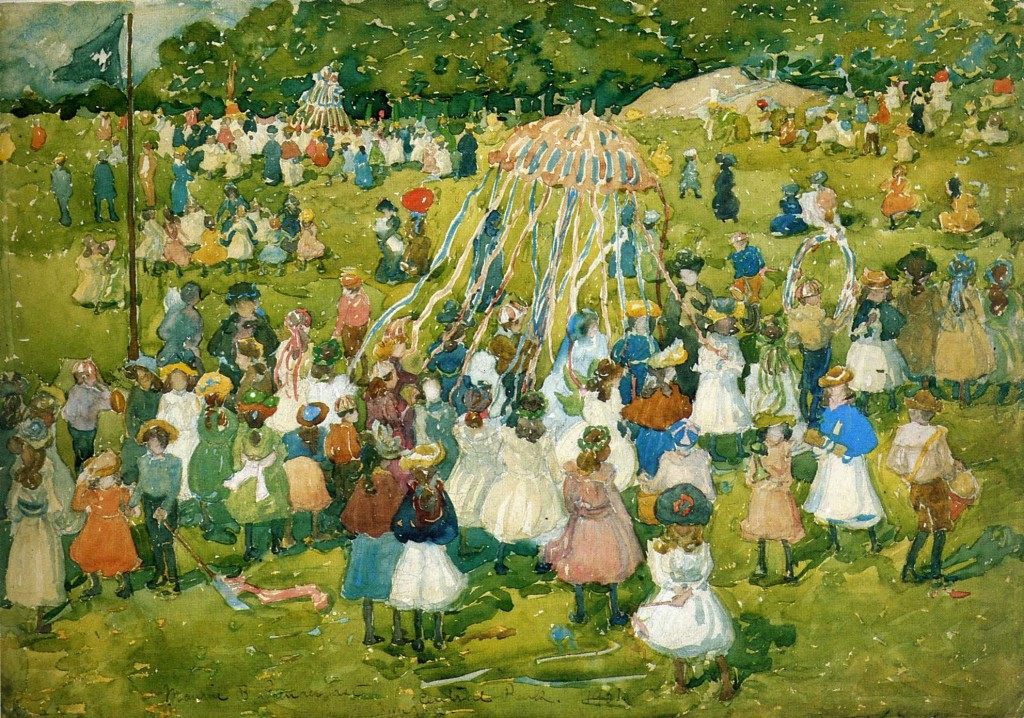 Painting by Maurice Predergast. Central Park 1901