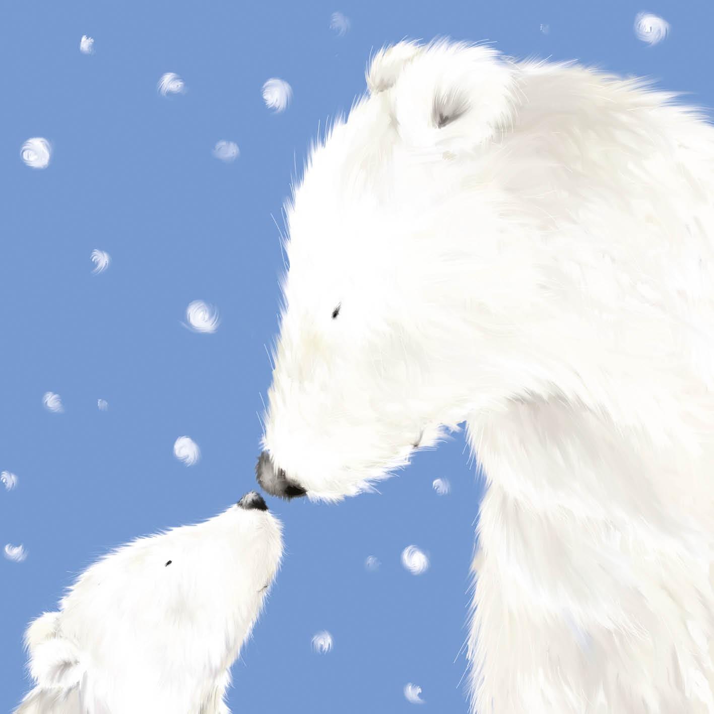 Polar Bears Christmas Card Charity Cards