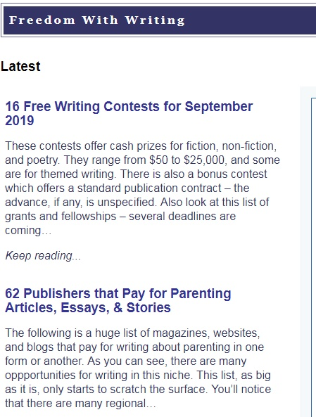 Find writing jobs on freedom with writing