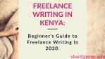 Freelance Writing in Kenya: How to Start Online Writing