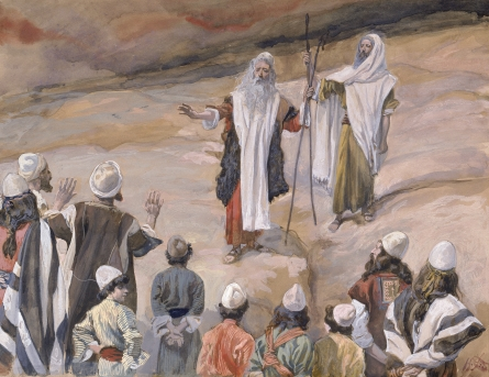 """Moses Forbids the People to Follow Him"" ~ James Tissot"
