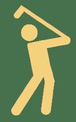 Logo Golfer Rüdiger Böhm Charity Golf Event Golf Club Ybrig