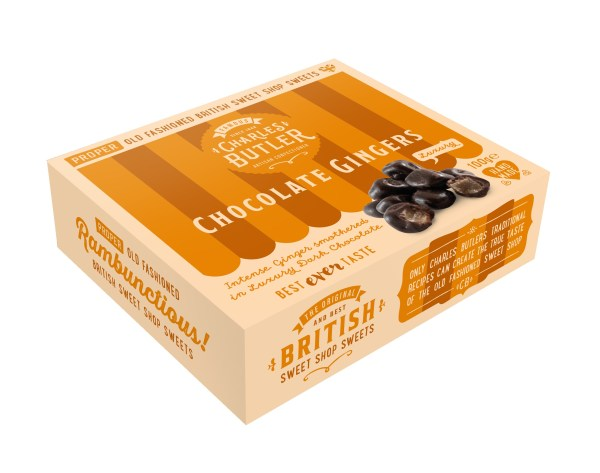 Charles Butler Chocolate Gingers box