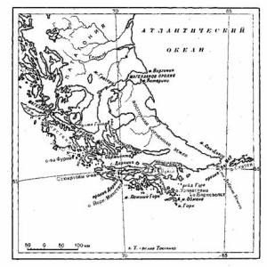 Огненная Земля. По данным карт, составленных офицерами «Бигля»