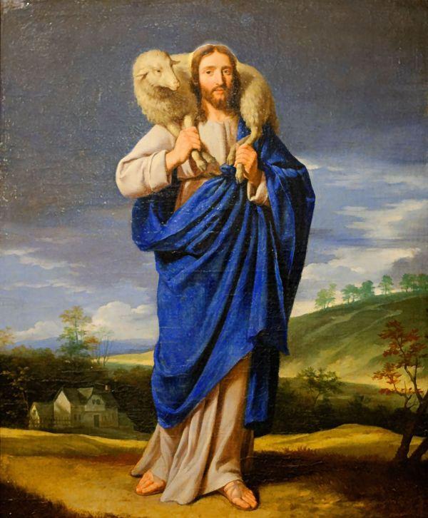 Le Bon Pasteur. Attributed to Philippe de Champaigne.