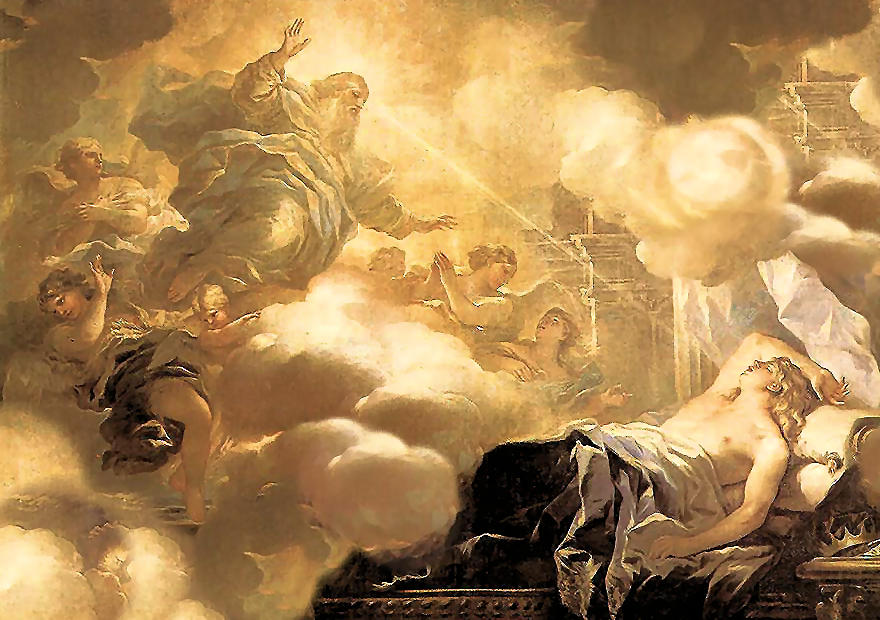 The Dream of Solomon (c. 1693). By Luca Giordano