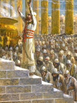 Solomon Dedicates the Temple in Jerusalem.