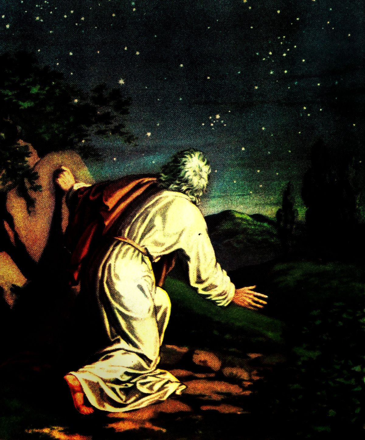 Abraham looks into the night sky (Genesis 22:16-17).