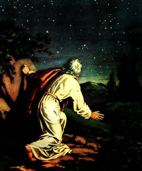 Abraham looks into the night sky (Genesis 22:16-17).