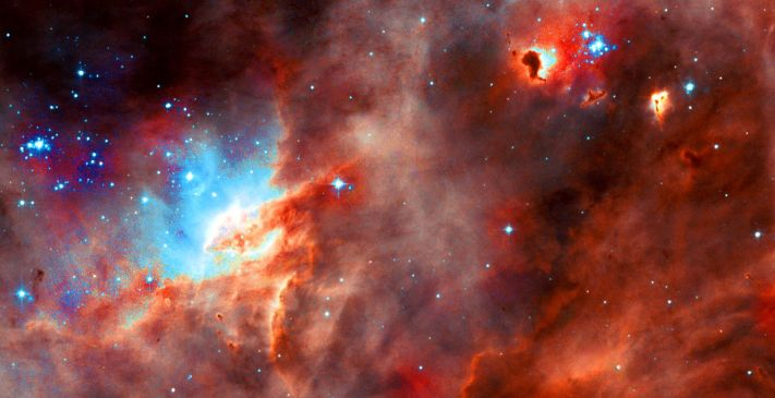 Star formation region N11B in the LMC taken by WFPC2 on the NASA/ESA Hubble Space Telescope (July 1, 2004).