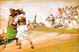 The Reconciliation of Esau and Jacob.