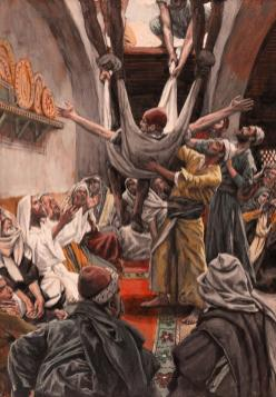 The Palsied Man Let Down through the Roof_Tissot