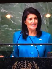 Ambassador Nikki Haley, Permanent Representative of the United States to the United Nations.