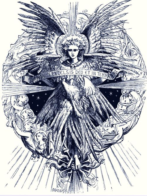 Behold, an angel of the Lord stood before them. (Lk.2.8-15)