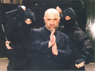 Alexei Sayle without the drunken lunches but with a scary kung fu stance