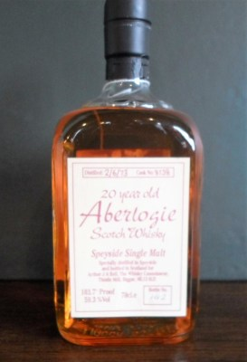 Lot 33: Aberlogie Speyside Malt Scotch Whisky, 20 Years