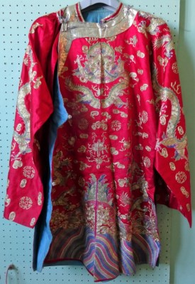 Lot 223 - Chinese Silk Embroidered Robe