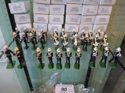 Lot 90: Ducal Royal Marines Model Bandsmen