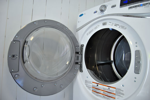 Laundry Room Upgrades With Paint And New Washer And Dryer