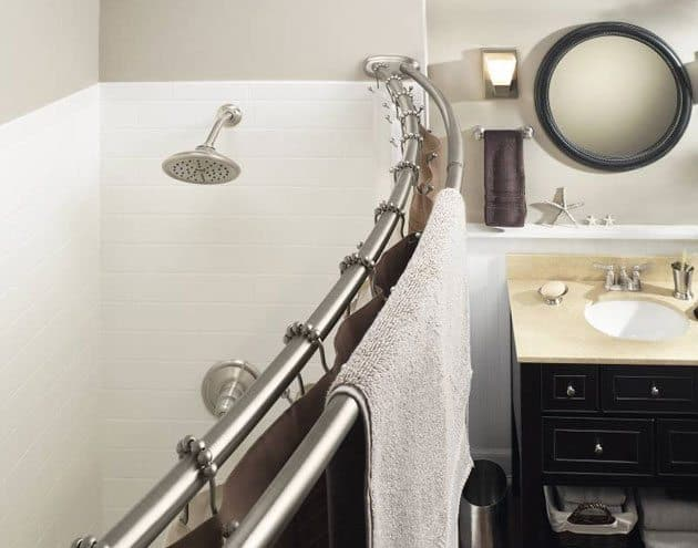 Bon Instantly Upgrade Your Bathroom With A Curved Shower Rod. Itu0027s Not Only  Small Bathrooms That Benefit From Having More Space In The Shower Area.