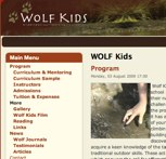 WOLF Kids web site