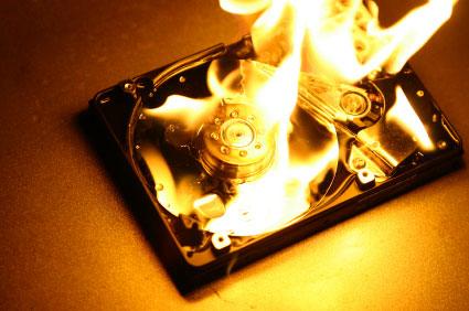 burning-hard-drive