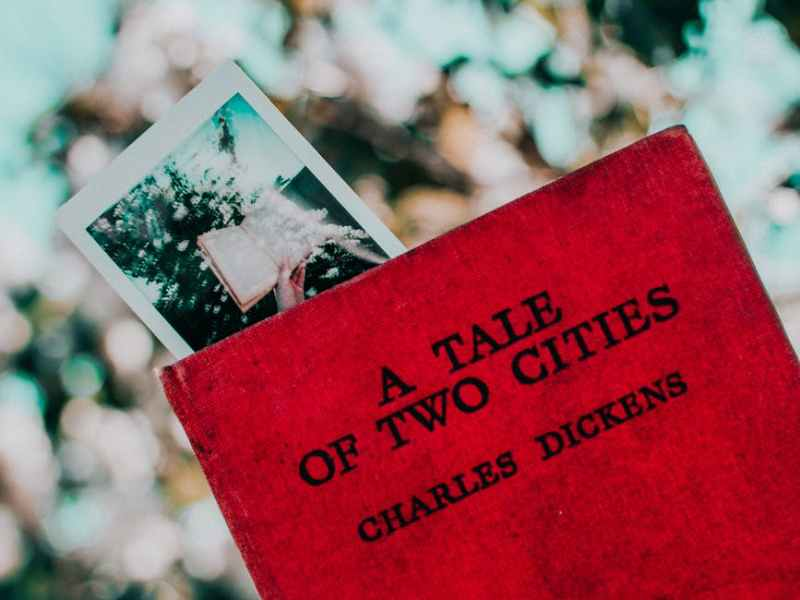 photo of a tale of two cities by charles dickens book