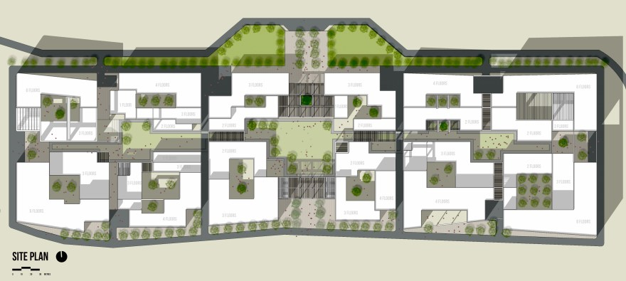Plan render goa university