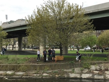Cleaning up Charlesgate Park West area