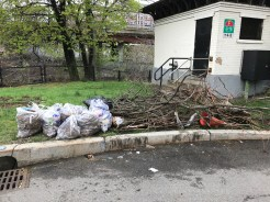 Trash by corner of Newbury and Charlesgate