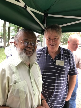 State Representative Byron Rushing and Parker James