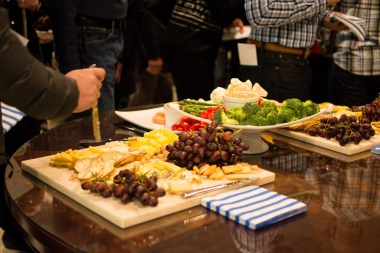 Refreshments at Wine and Cheese Silent Auction, photo by Evan Bradley
