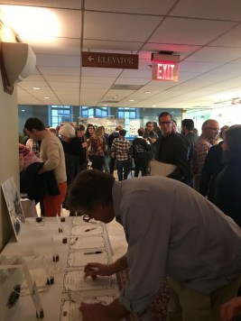 Will Brownsberger Amidst the Bidding at the Silent Auction