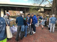 Signing in at the 2018 Muddy River Cleanup