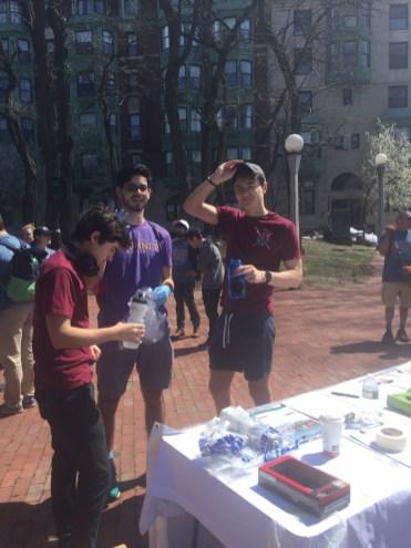 MIT Fraternity volunteers
