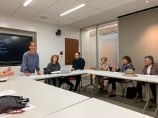 Jenn Carter, Marie Law Adams, Dan Adams, Susan Ashbrook, Margaret Pokorny, Jackie Royce at Dog Park Meeting, June 12, 2019