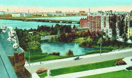 Charlesgate Park from the Braemore 1920s Postcard