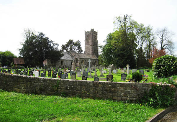 St Tewdic's Church, Mathern, Near Chepstow. Wales. Taken from the wales Coast path by Charles Hawes
