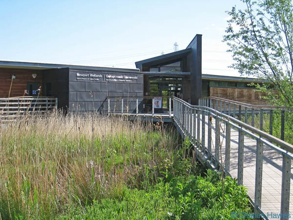 Newport Wetlands visitor centre on the Wales Coast Path. Photograph by Charles Hawes. Walking in Wales.