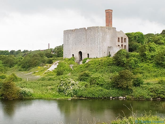 Aberthaw Lime Works, Glamorgan, on The Wales Coast Path. Photographed by Charles Hawes. Walking in Wales.