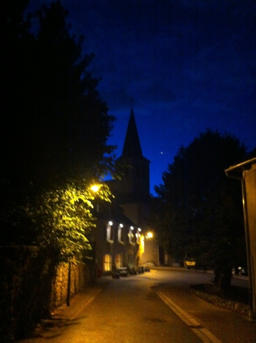 Golinhac at night on The Way of St James, france, photographed by Charles Hawes